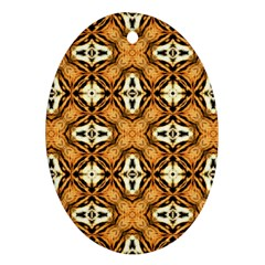 Faux Animal Print Pattern Ornament (oval)