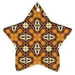 Faux Animal Print Pattern Ornament (Star)