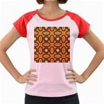 Faux Animal Print Pattern Women s Cap Sleeve T-Shirt