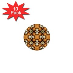 Faux Animal Print Pattern 1  Mini Buttons (10 Pack)