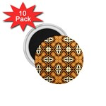 Faux Animal Print Pattern 1.75  Magnets (10 pack)