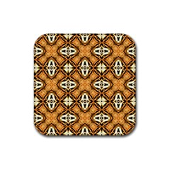 Faux Animal Print Pattern Rubber Square Coaster (4 Pack)