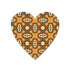 Faux Animal Print Pattern Heart Magnet