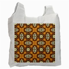 Faux Animal Print Pattern Recycle Bag (two Side)