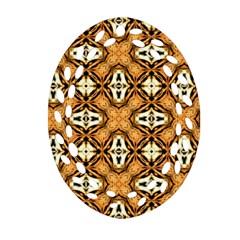 Faux Animal Print Pattern Oval Filigree Ornament (2 Side)