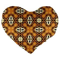 Faux Animal Print Pattern Large 19  Premium Heart Shape Cushions by creativemom