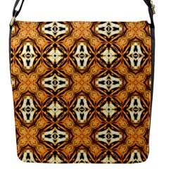 Faux Animal Print Pattern Flap Messenger Bag (s)