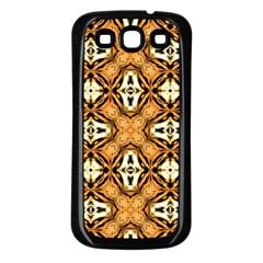 Faux Animal Print Pattern Samsung Galaxy S3 Back Case (black)