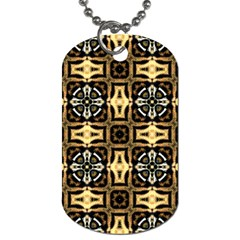 Faux Animal Print Pattern Dog Tag (one Side) by creativemom