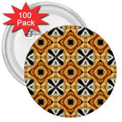 Faux Animal Print Pattern 3  Buttons (100 Pack)  by creativemom