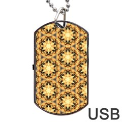 Faux Animal Print Pattern Dog Tag Usb Flash (one Side) by creativemom
