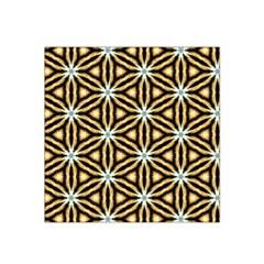 Faux Animal Print Pattern Satin Bandana Scarf