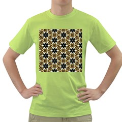 Faux Animal Print Pattern Green T Shirt by creativemom