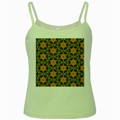 Faux Animal Print Pattern Green Spaghetti Tanks by creativemom