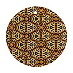 Faux Animal Print Pattern Ornament (round)  by creativemom