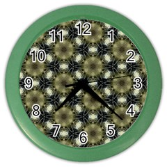 Faux Animal Print Pattern Color Wall Clocks by creativemom