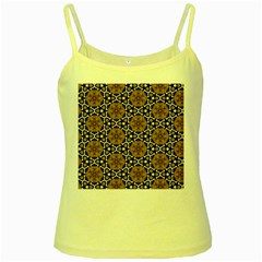 Faux Animal Print Pattern Yellow Spaghetti Tanks by creativemom