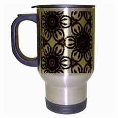 Faux Animal Print Pattern Travel Mug (silver Gray) by creativemom