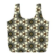 Faux Animal Print Pattern Full Print Recycle Bags (l)