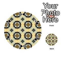 Faux Animal Print Pattern Playing Cards 54 (round)
