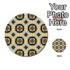 Faux Animal Print Pattern Multi Purpose Cards (round)