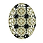Faux Animal Print Pattern Oval Filigree Ornament (2-Side)  Front