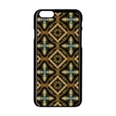 Faux Animal Print Pattern Apple Iphone 6 Black Enamel Case by creativemom