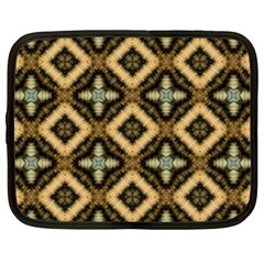 Faux Animal Print Pattern Netbook Case (large) by creativemom