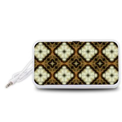 Faux Animal Print Pattern Portable Speaker (White)  by creativemom
