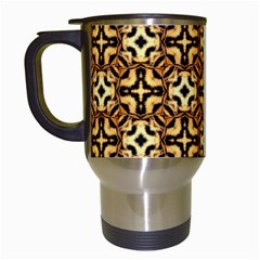 Faux Animal Print Pattern Travel Mugs (white) by creativemom