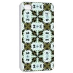 Faux Animal Print Pattern Apple Iphone 4/4s Seamless Case (white)