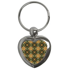 Faux Animal Print Pattern Key Chains (heart)  by creativemom