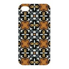 Faux Animal Print Pattern Apple Iphone 4/4s Hardshell Case by creativemom