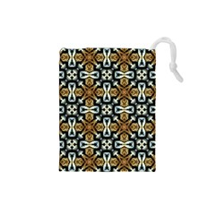 Faux Animal Print Pattern Drawstring Pouches (small)  by creativemom