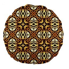 Faux Animal Print Pattern Large 18  Premium Round Cushions by creativemom