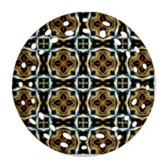 Faux Animal Print Pattern Ornament (round Filigree)