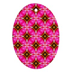 Cute Pretty Elegant Pattern Ornament (oval)  by creativemom