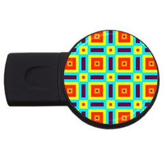 Cute Pretty Elegant Pattern Usb Flash Drive Round (2 Gb)  by creativemom