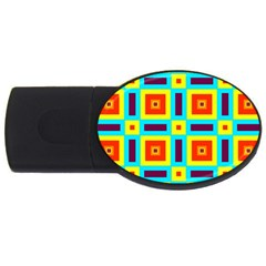 Cute Pretty Elegant Pattern USB Flash Drive Oval (1 GB)  by creativemom