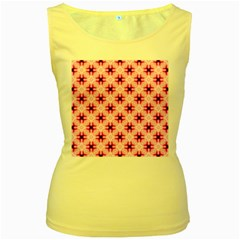 Cute Pretty Elegant Pattern Women s Yellow Tank Tops by creativemom