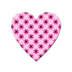 Cute Pretty Elegant Pattern Heart Magnet by creativemom