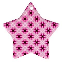 Cute Pretty Elegant Pattern Star Ornament (two Sides)  by creativemom