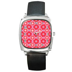 Cute Pretty Elegant Pattern Square Metal Watches by creativemom