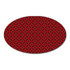 Cute Pretty Elegant Pattern Oval Magnet by creativemom