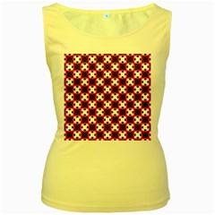 Cute Pretty Elegant Pattern Women s Yellow Tank Tops by creativemom