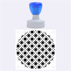 Cute Pretty Elegant Pattern Rubber Round Stamps (large) by creativemom