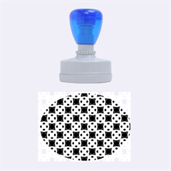 Cute Pretty Elegant Pattern Rubber Oval Stamps by creativemom