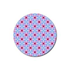 Cute Pretty Elegant Pattern Rubber Round Coaster (4 Pack)