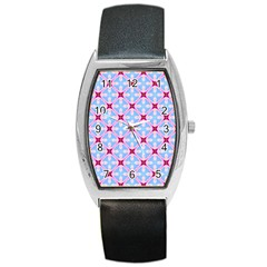 Cute Pretty Elegant Pattern Barrel Metal Watches