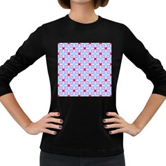 Cute Pretty Elegant Pattern Women s Long Sleeve Dark T Shirts